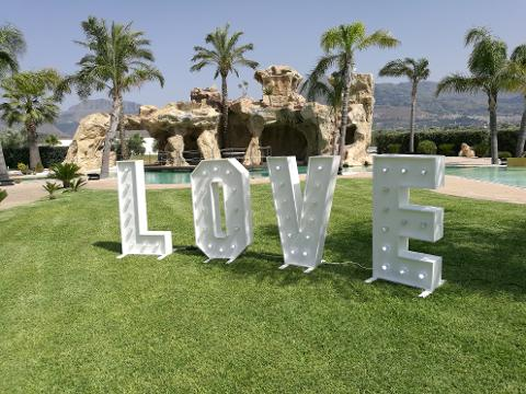 SCRITTA LOVE 3D - Matrimonio - Luminarie Matrimoni Wedding