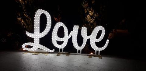SCRITTA LOVE CORSIVO Luminarie Matrimonio