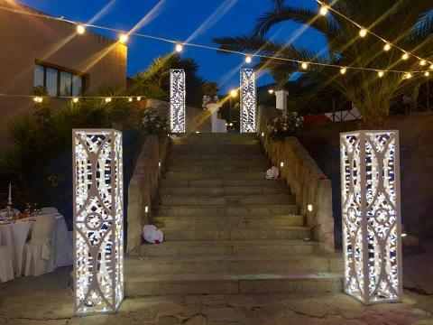 COLONNA LUCI PER MATRIMONIO  Wedding Lights Piantana Charleston