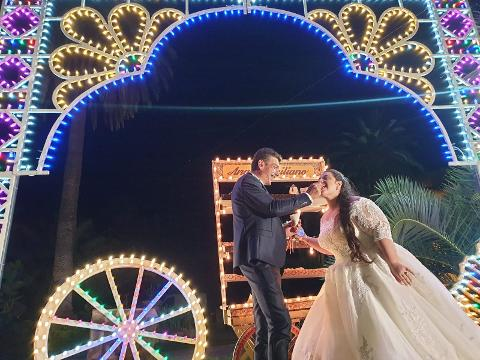 LUMINARIE A TEMA SICILIA PER MATRIMONIO Wedding Lights Luminaria Sagome Sicilia