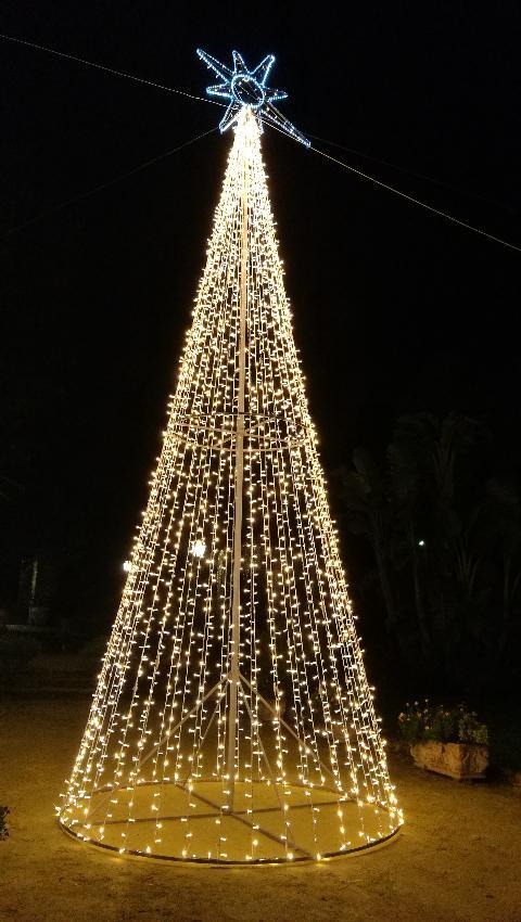 Alberi con Stringhe Luminarie Natalizie