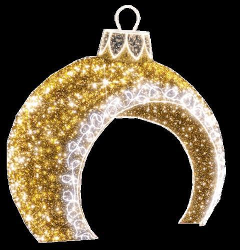 Palla natalizia doppio ingresso  Metal Strutture Luminaria Natalizia