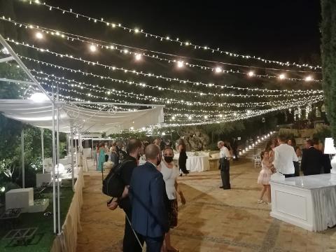 TETTO CIELO MIX STELLATO E VINTAGE Luminarie Matrimonio