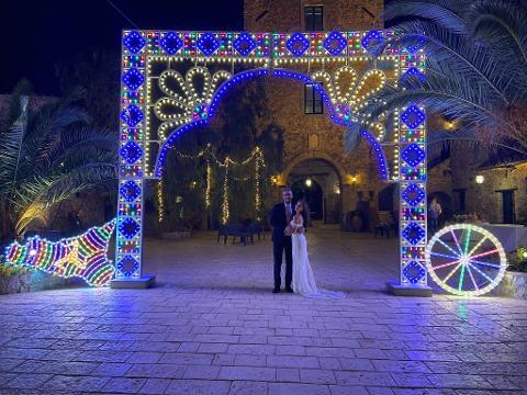 ARCO LUMINOSO FLOWERS GIGANTE Luminarie Matrimonio