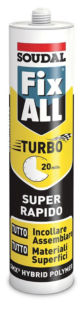 FIX ALL TURBO BIANCO SOUDAL SIGILLANTE ADESIVO SUPER RAPIDO