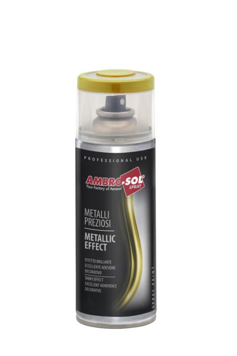 SMALTO SPRAY EFFETTO METALLI PREZIOSI 400ML AMBRO-SOL  VERNICE SPRAY