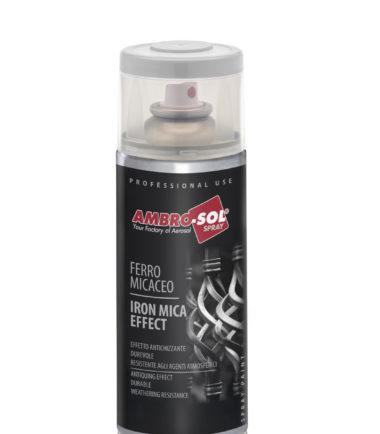 SMALTO SPRAY EFFETTO FERRO MICACEO 400ML AMBRO-SOL  VERNICE SPRAY