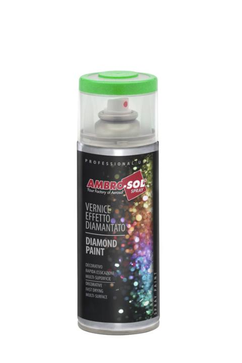 SMALTO SPRAY EFFETTO DIAMANTATO 400 ML AMBRO-SOL  VERNICE SPRAY
