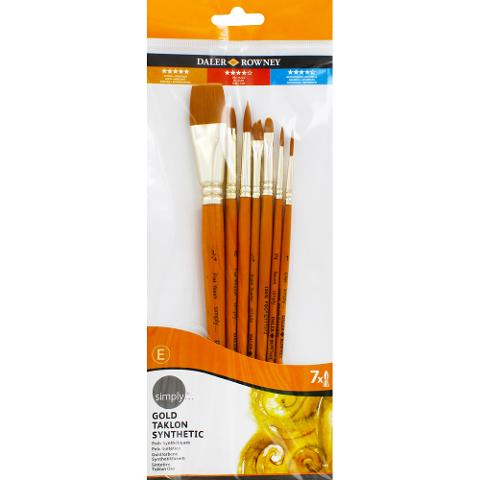 SET 7 PENNELLI SIMPLY DALER ROWNEY  SET PENNELLI X PITTURA