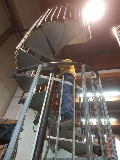 scala chiocciola ferro gagliano