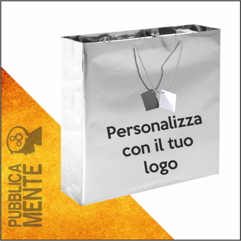Shopper Argento Lucido Luxury