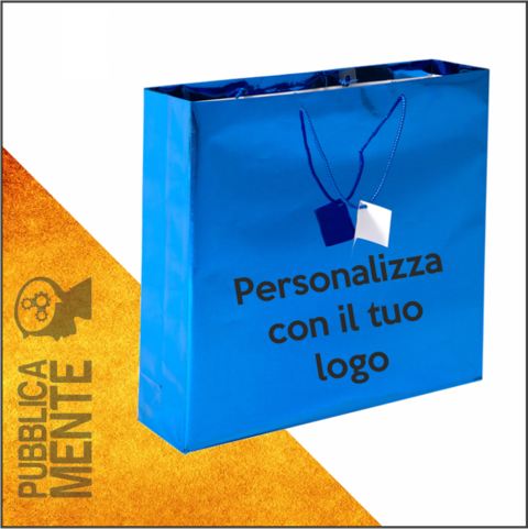 Shopper Blu Lucido Luxury