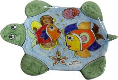 Piatto artistico a tartaruga Nino Parrucca cm.20x31