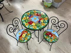 Set 3 pz Tavolo e sedie Nino Parrucca Linea Giardino