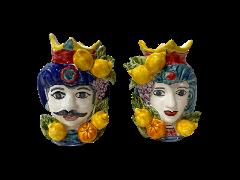 TESTA DI MORO Nino Parrucca con Frutta altorilievo