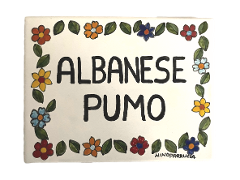 Piastrella personalizzata  Nino Parrucca in ceramica