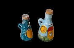 Bottiglia 100/250ML con manico Nino Parrucca decori vari