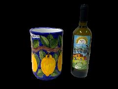 Cilindro porta bottiglie  Nino Parrucca in ceramica