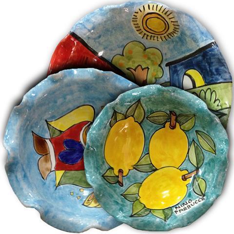Ciotola Smerlata Nino Parrucca in ceramica