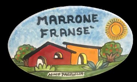 Piastrella Ovale per Cognomi Nino Parrucca in ceramica