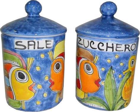 Barattolo in ceramica Nino Parrucca diversi decori e misure