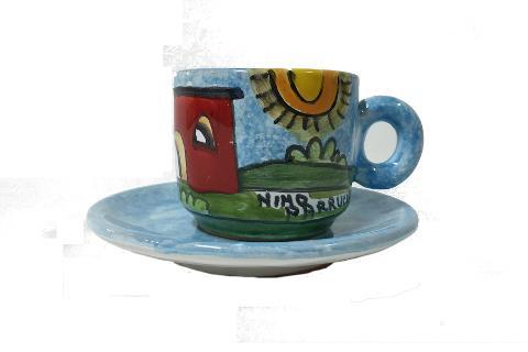 Tazzina da caffè Nino Parrucca con piattino