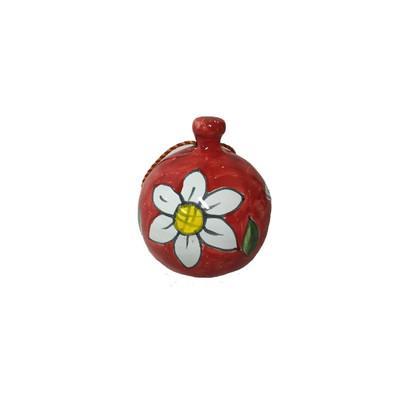 Pallina di Natale fiore rosso Nino Parrucca varie misure