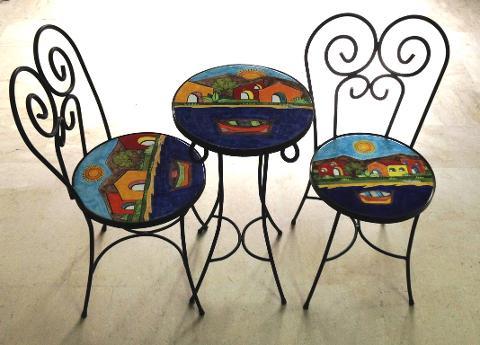Set tavolo e sedie Nino Parrucca Linea Giardino