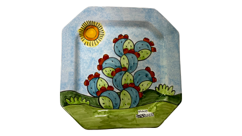 Piatto Ottagonale Nino Parrucca vari decori
