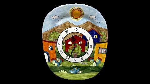 Orologio a piatto Nino Parrucca con angoli arrotondati