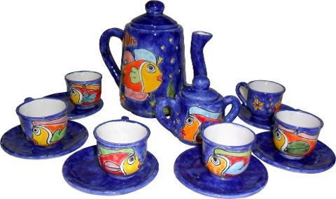 Servizio caffè Nino Parrucca in ceramica