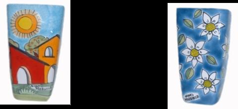 Umidificatore o portafiori da muro Nino Parrucca h 18 cm