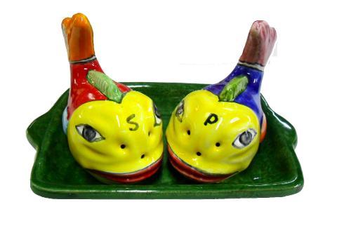 Sale Pepe forma pesce  Nino Parrucca con vassoio