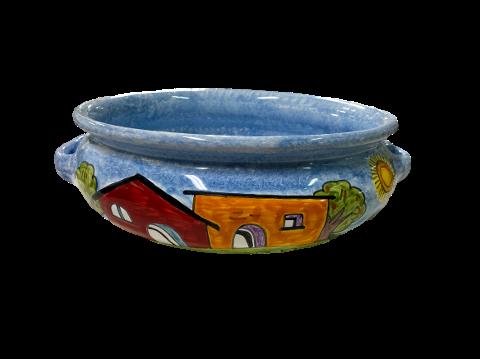 Spaghettiera Nino Parrucca in ceramica