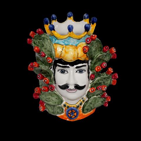 Testa di Moro Nino Parrucca Pale di Fichi D'india
