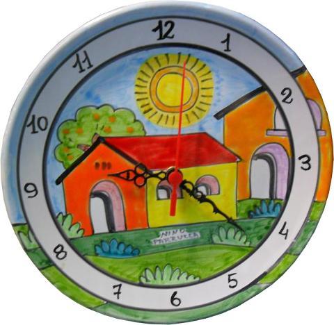 Piatto ad orologio Nino Parrucca Rotondo