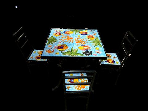 Tavolo con 4 Sedie Nino Parrucca PROMO PRONTA CONSEGNA