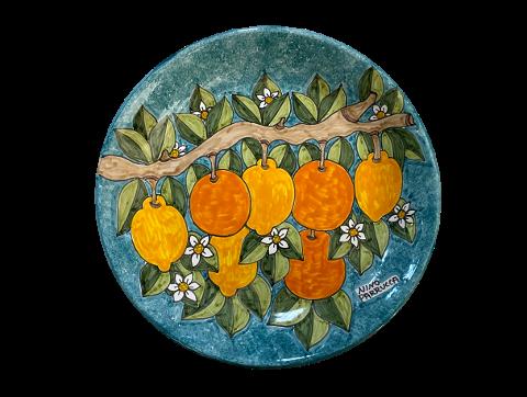 Piatto da portata Nino Parrucca Limoni e Arance