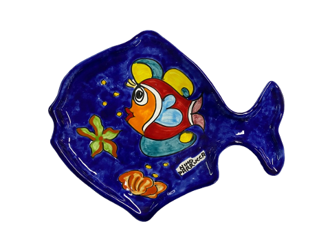 Piatto a forma di Pesce Nino Parrucca cm.33x23