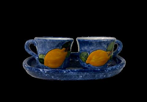 Servizio Tete a tete Nino Parrucca limoni 3 pezzi