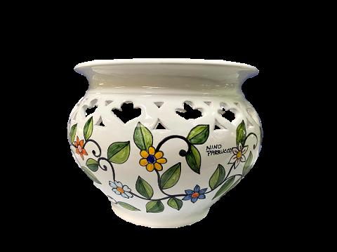 Cachepot Bombato Nino Parrucca Traforato - fiori rampicanti