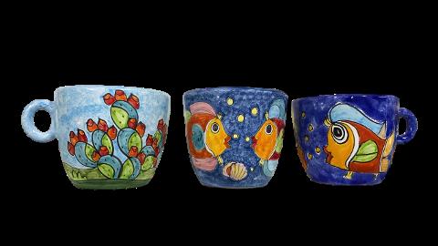 Porta Cialde in ceramica Nino Parrucca a forma di Tazza Gigante