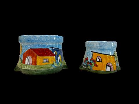 Porta Cialde in ceramica Nino Parrucca a forma di Sacco da caffè