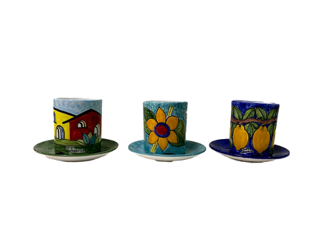 Scolaposate in ceramica Nino Parrucca Vari decori