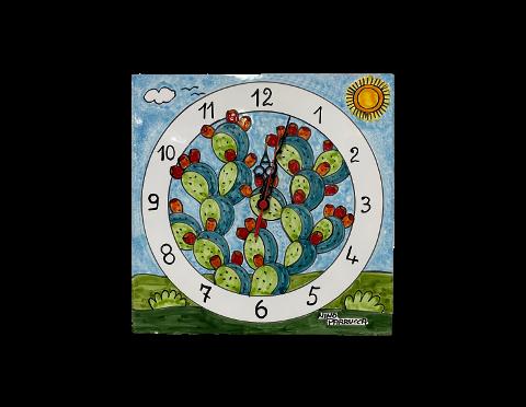 Orologio su Piastra Nino Parrucca in Ceramica