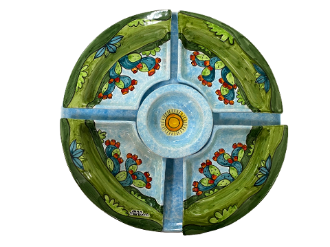 Antipastiera Componibile d.cm.45 Nino Parrucca pale di fichi d'india