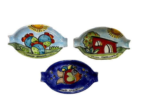 Posacenere ovale Nino Parrucca cm.12