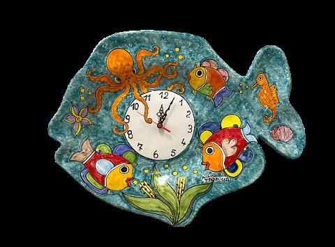 Orologio a forma di Pesce Nino Parrucca cm.52x41
