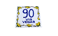Piastrella ramo di limoni stile antico Nino Parrucca personalizzata