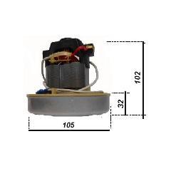 MOTORE MONOSTADIO PER ASPIRACENERE LAVOR 800 WATT 220-240 VOLT  50/60 Hz  cod. 3.755.0108 LAVORWASH   cod. 3.755.0108